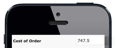 Iphone math point
