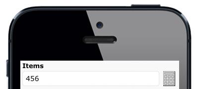 Iphone numpad point