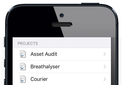 Iphone projects half